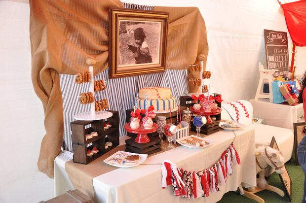 Vintage Style Baseball Baby Shower