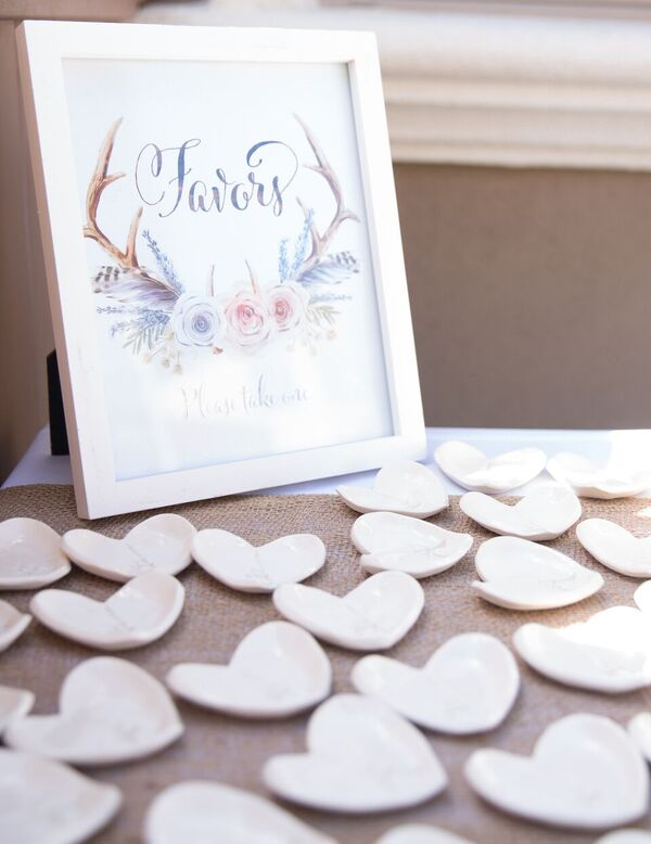 ... French Country Bridal Shower Heart Favors ...