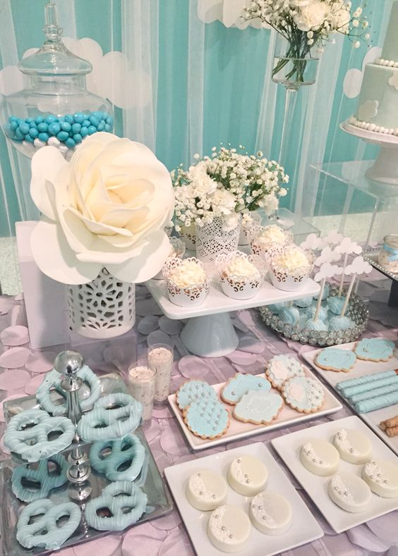 Shimmering Heaven Sent Baby Shower Baby Shower Ideas Themes Games