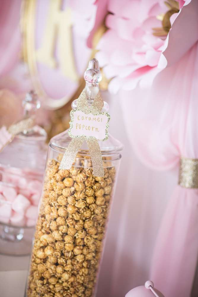 Pink And Gold Bathroom Decor: Shimmering Pink And Gold Baby Shower