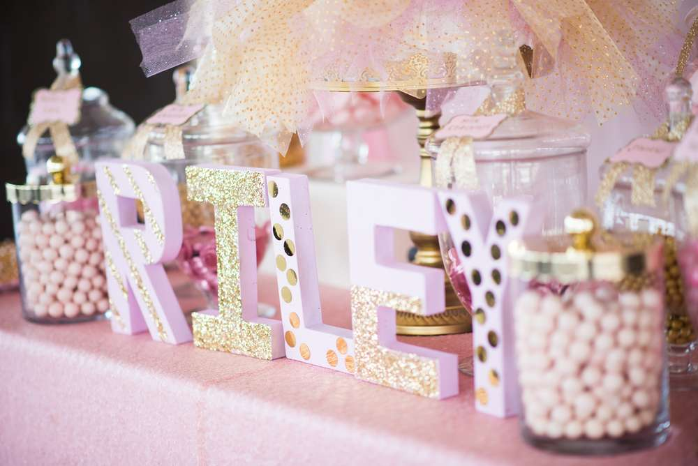 shimmering pink and gold baby shower baby shower ideas