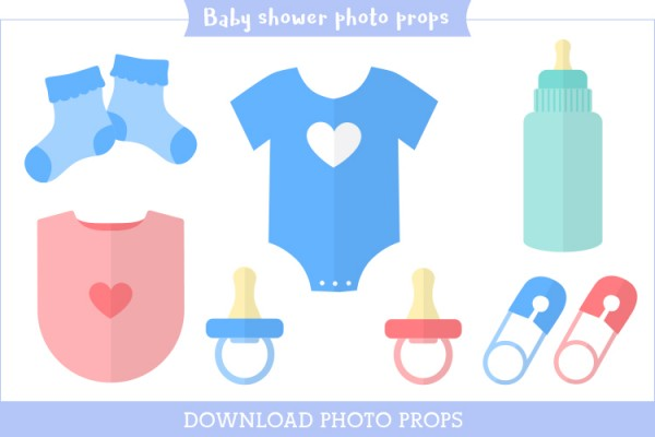free printable photo booth props by personal creations baby shower