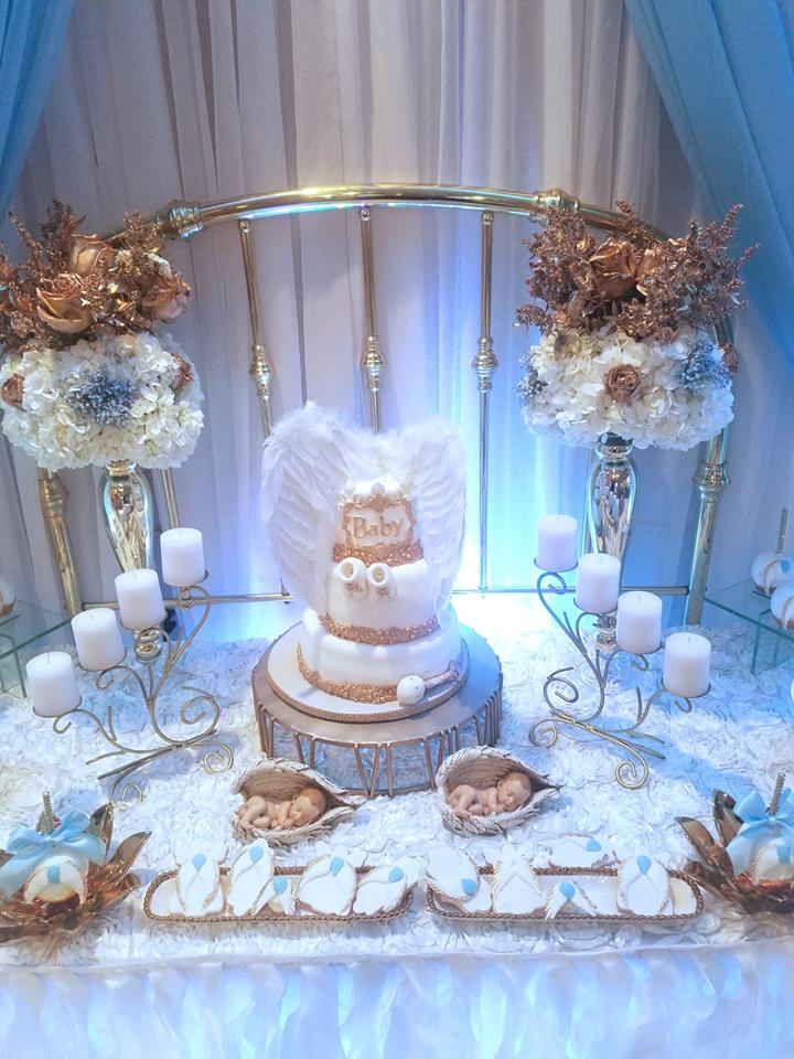 Baby boy angel shower baby shower ideas themes games for Baby boy baby shower decoration ideas