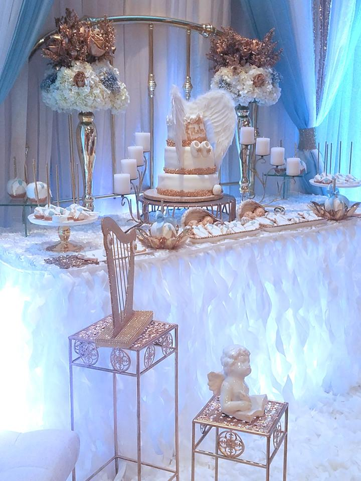 Baby boy angel shower baby shower ideas themes games for Baby shower decoration theme