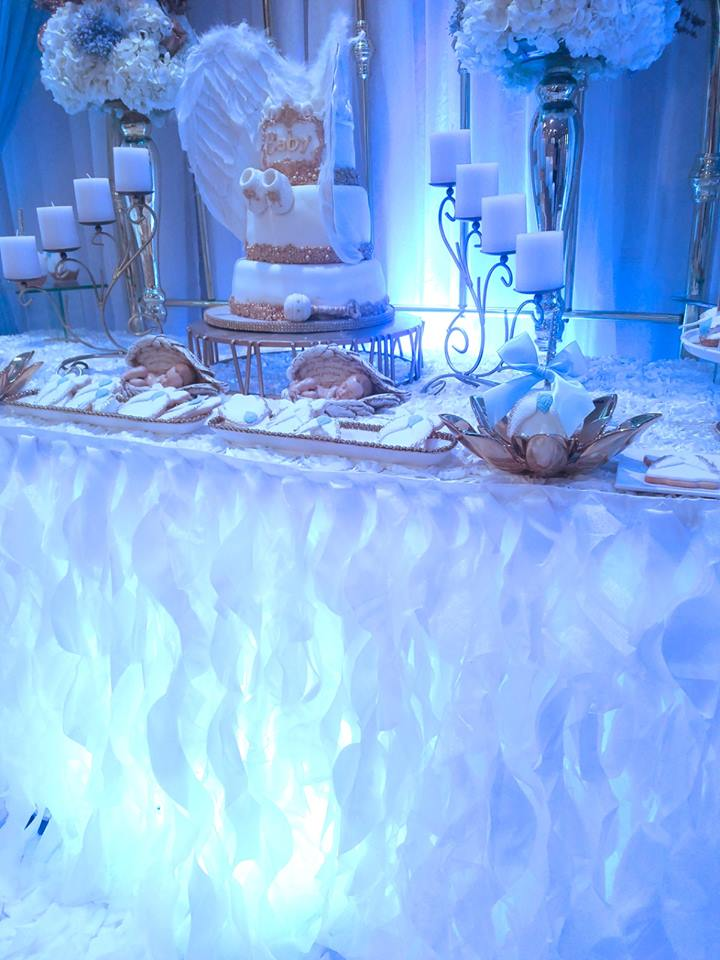 Baby boy angel shower baby shower ideas themes games for Angel decoration