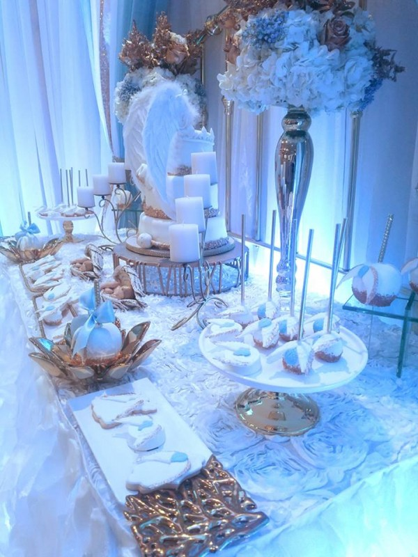 Baby boy angel shower baby shower ideas themes games - Baby shower invitations and decorations ...