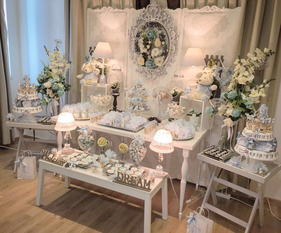 Charming Silver Blue Sky Baby Shower Baby Shower Ideas