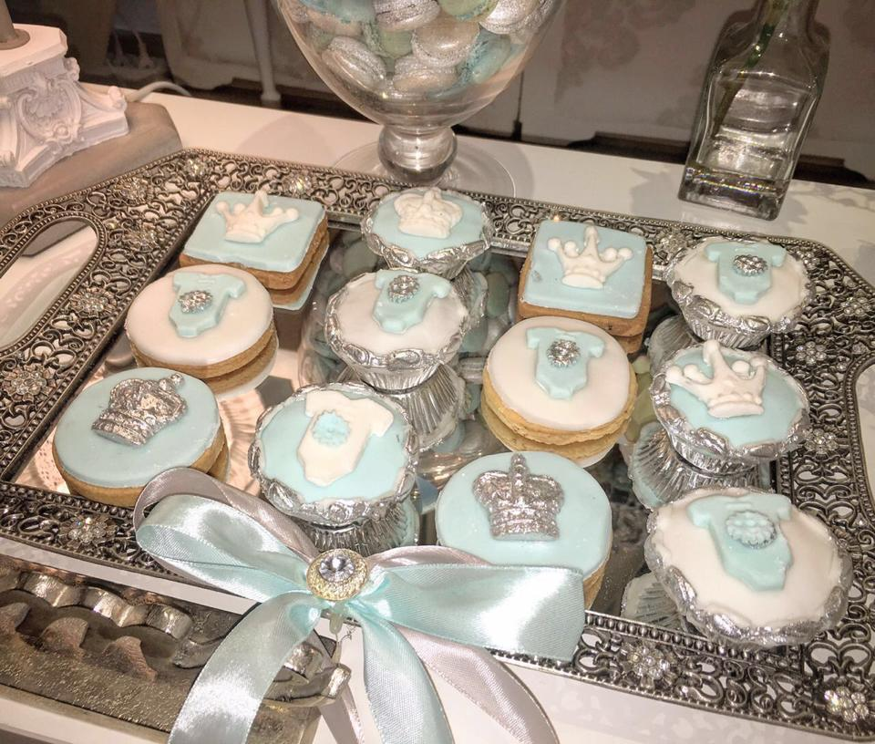 Charming Silver Blue Sky Baby Shower