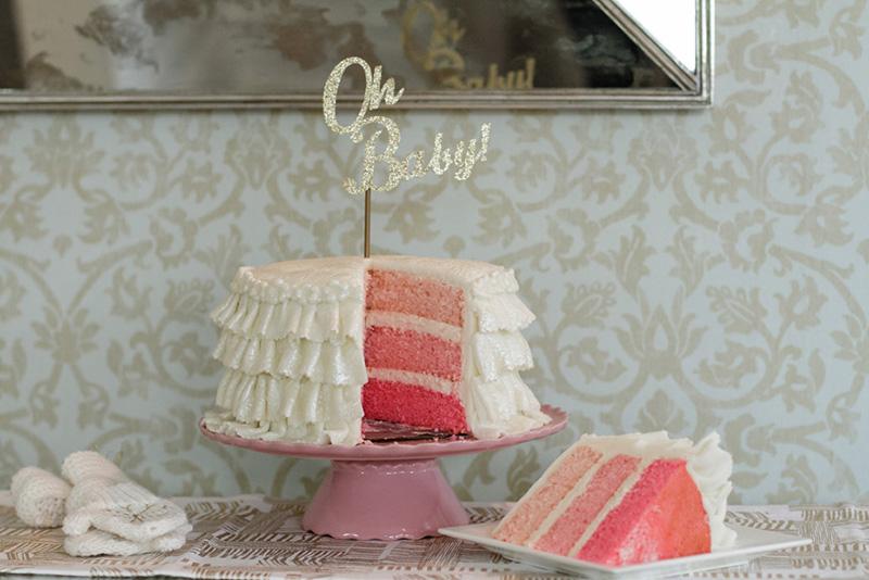... Chic Winter Wonderland Baby Shower Cut Cake ...