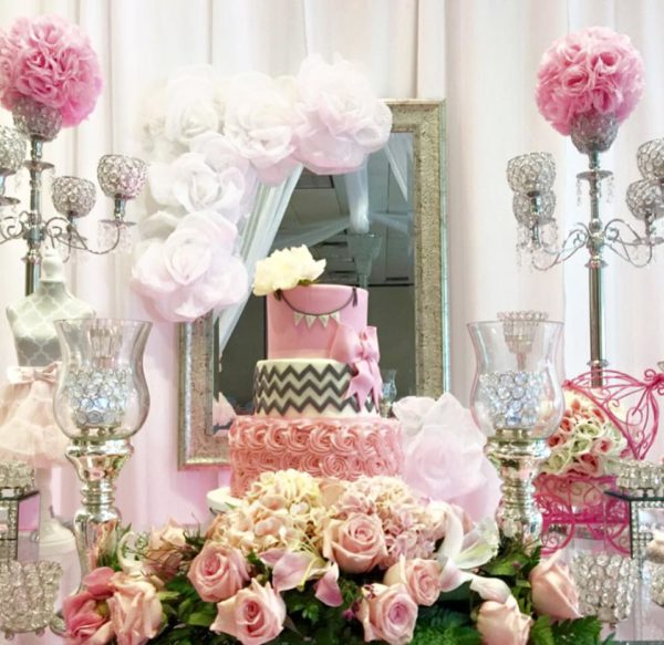 Sparkles And Roses Baby Shower - Baby Shower Ideas - Themes - Games
