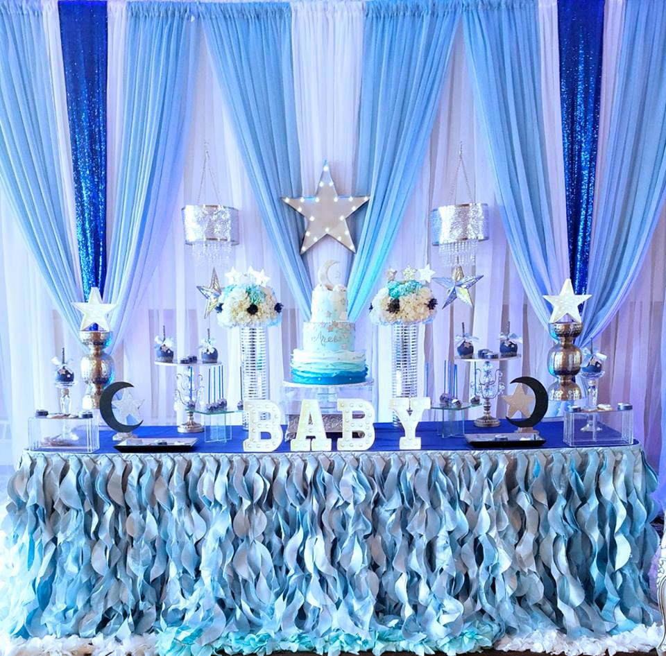 Starry Night Baby Shower Dessert Table Baby Shower Ideas Themes