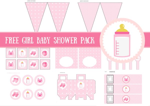 free baby girl baby shower printable package baby shower ideas