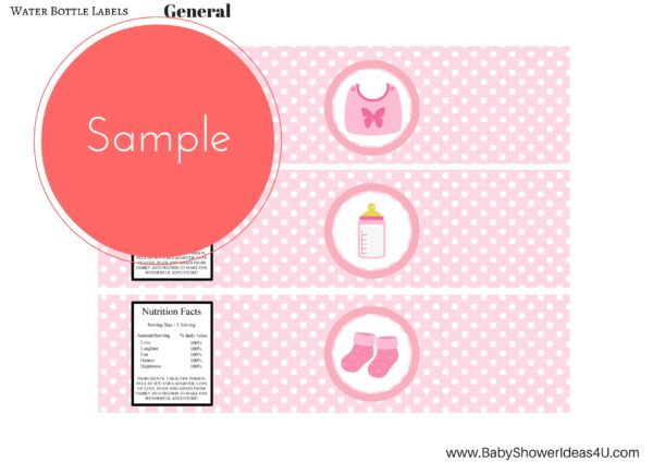 Baby Shower Label Template  ApigramCom