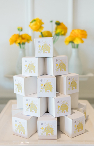 Yellow And Gray Elephant Baby Shower Baby Shower Ideas