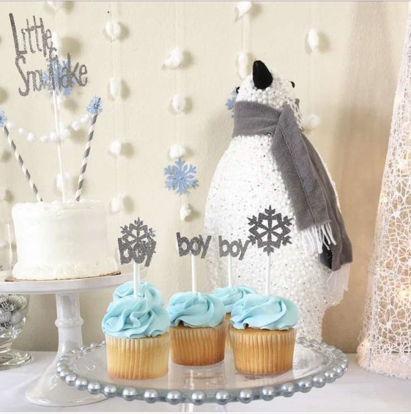 Silver And White Snowy Baby Shower Baby Shower Ideas
