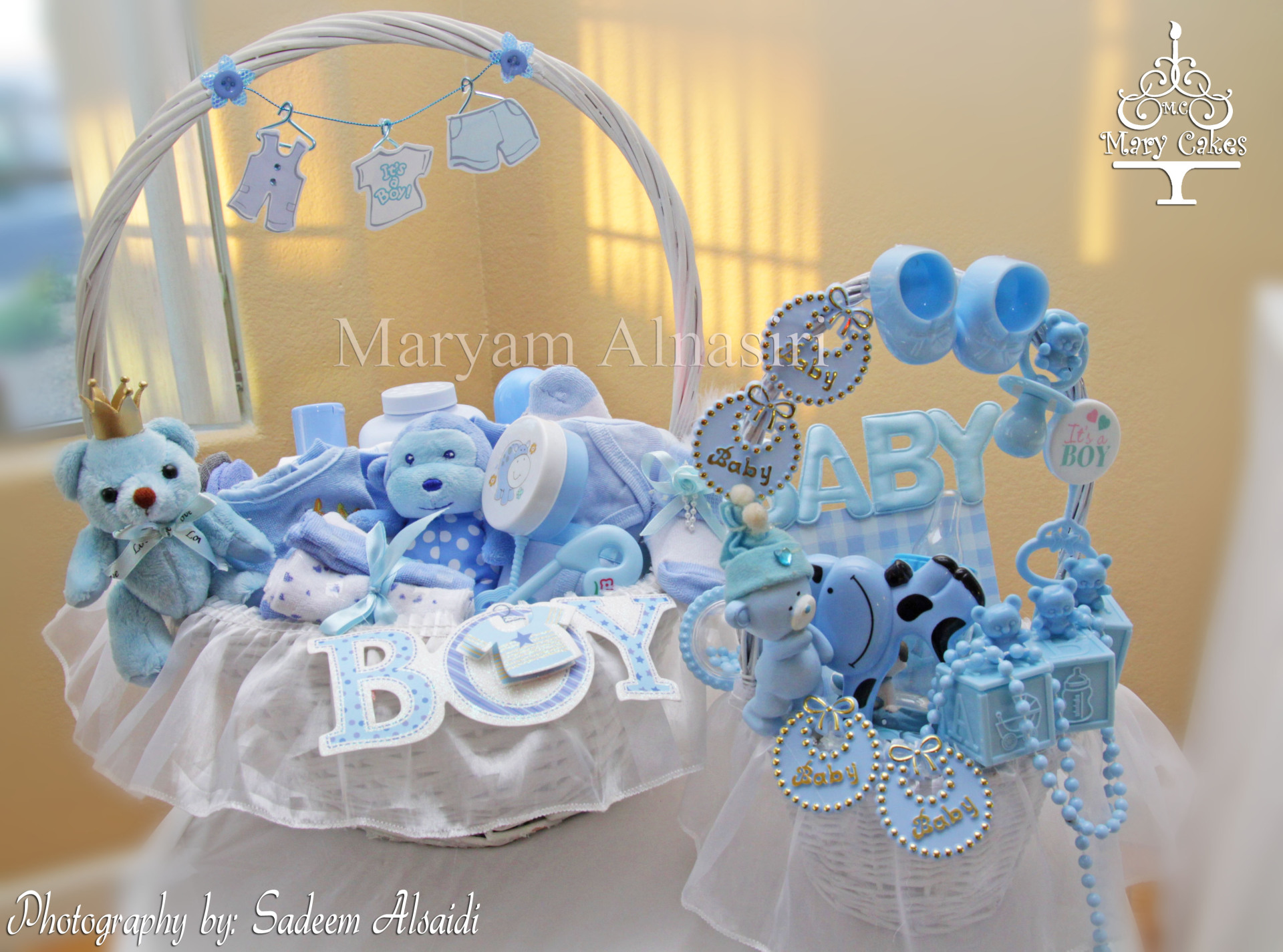Blue And White Royal Baby Shower Baskets Baby Shower Ideas