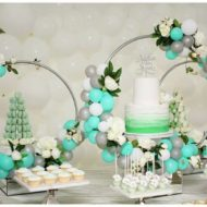 flowery-green-mint-and-white-baby-shower-treat-table