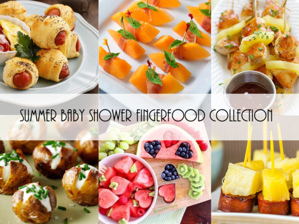 Summer Baby Shower Finger Food Collection - Baby Shower Ideas - Themes - Games