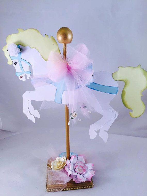 carousel-horse-centerpiece-baby-shower-decoration