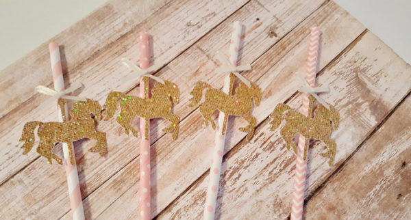 carousel-horse-paper-straws-baby-shower