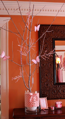 cozy-pink-baby-shower-soiree-butterfly-tree