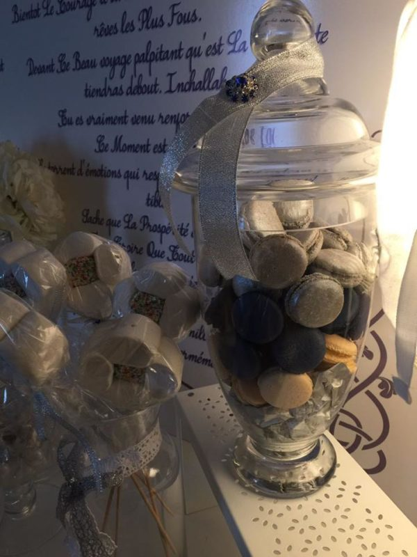 angelic-royal-blue-newborn-baby-shower-macarons