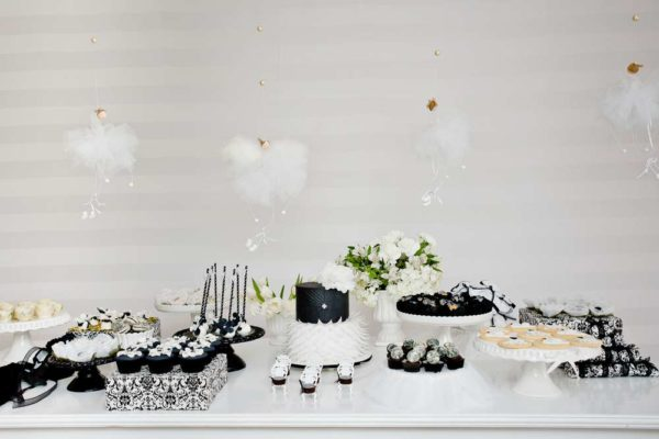 sophisticated-swan-lake-baby-shower-dessert-table