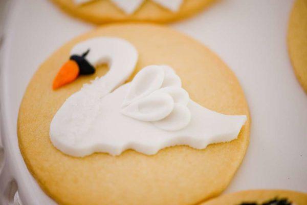 sophisticated-swan-lake-baby-shower-swan-cookies