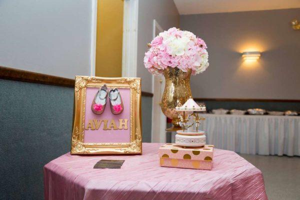 carousel-in-pink-baby-shower-framed-art