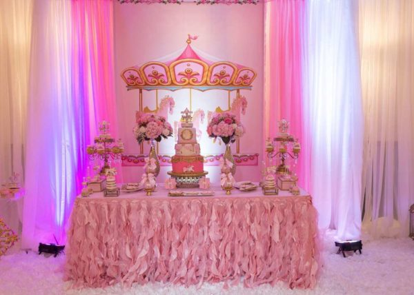 Carousel In Pink Baby Shower Baby Shower Ideas Themes