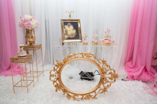 carousel-in-pink-baby-shower-vintage-mirror-frame