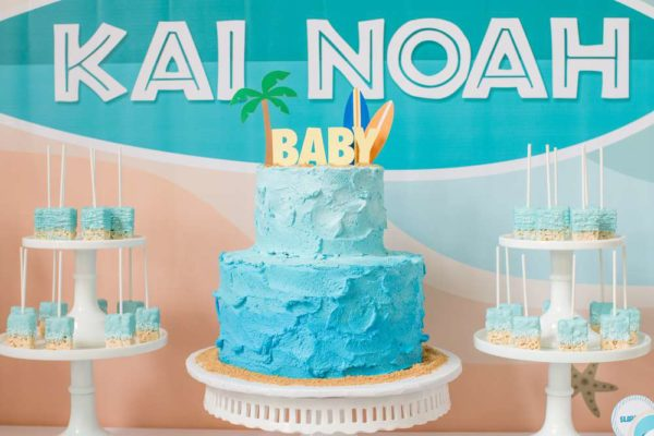 surfing-baby-on-board-shower-two-tiered-cake