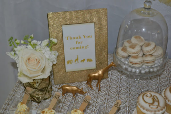 golden chic safari baby shower - baby shower ideas - themes