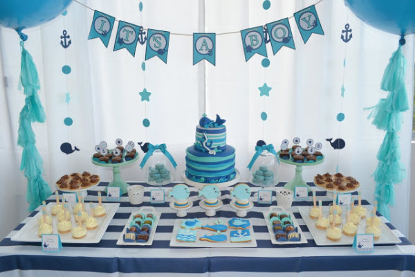 nautical-whale-baby-shower-desserts