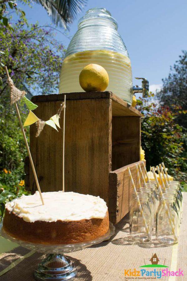 backyard-bumblebee-baby-shower-cake