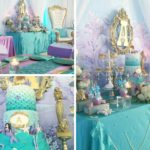 Beautiful Golden Mermaid Baby Shower