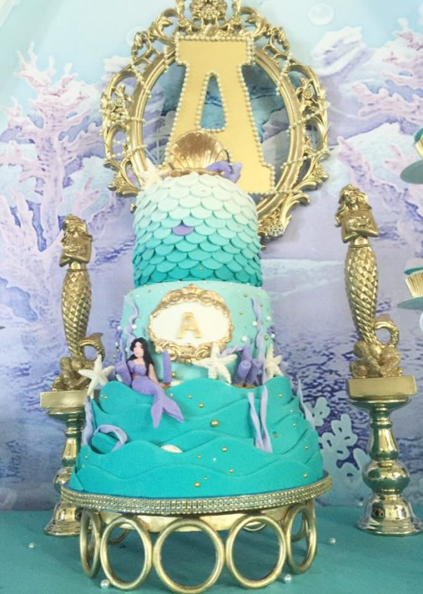 ... Beautiful Golden Mermaid Baby Shower Cake ...
