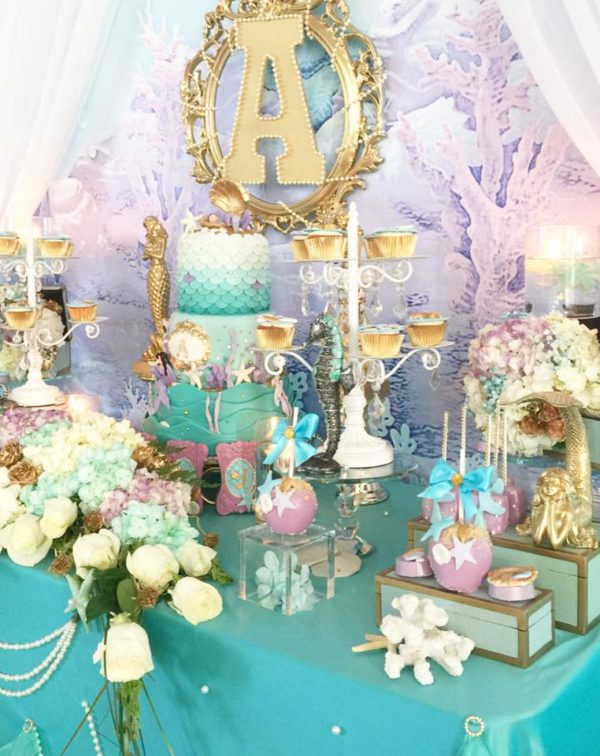 Beautiful Golden Mermaid Baby Shower Ideas Themes Games
