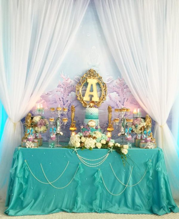 Beautiful Golden Mermaid Baby Shower - Baby Shower Ideas - Themes - Games
