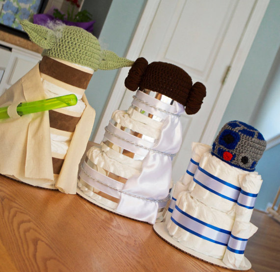 star wars diaper cake - Star Wars Decorations