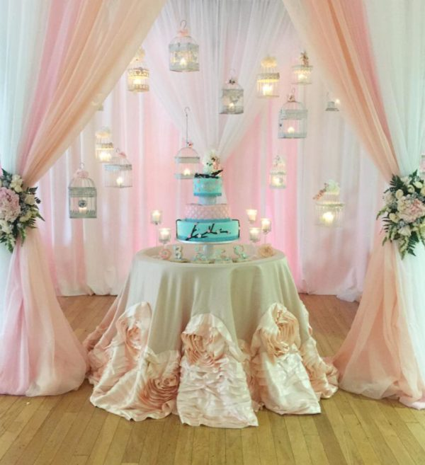 Peach And Blue Owl Baby Shower Baby Shower Ideas Themes Games