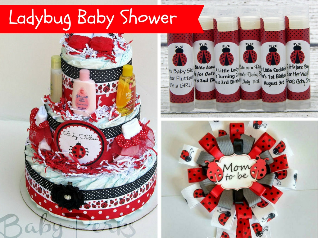 Ladybug baby shower decorations and party favors baby - Baby shower invitations and decorations ...