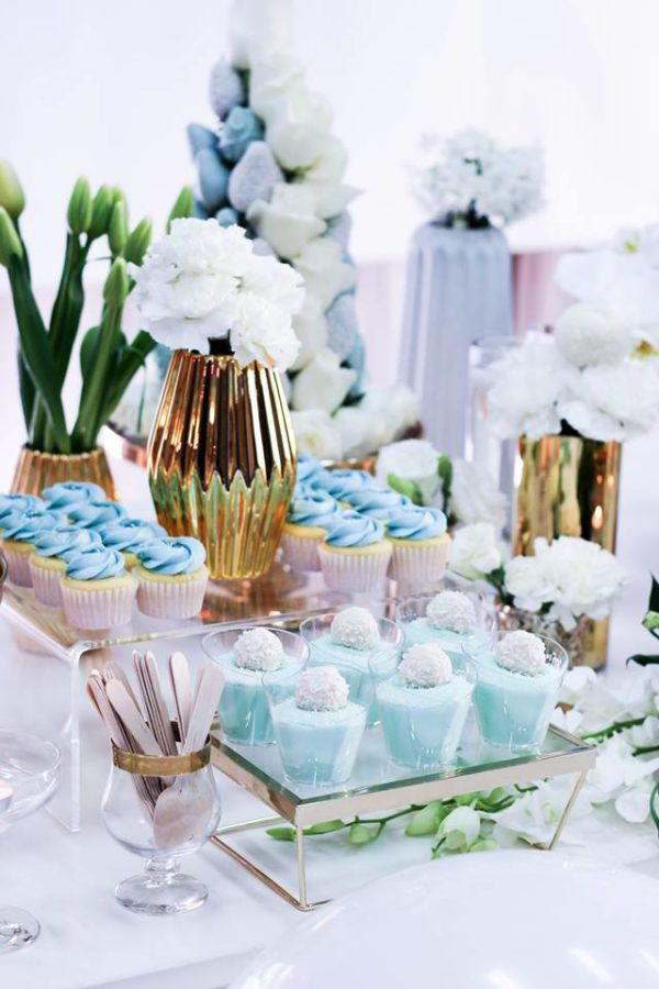 luscious-blue-and-gold-shower-flower-arrangements