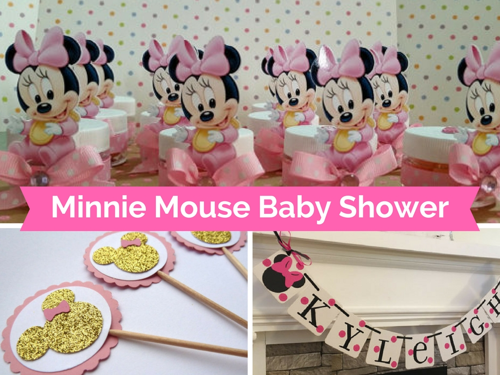 Minnie mouse baby shower decorations and party favors for Baby decoration games