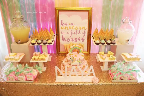 sparkle-unicorn-baby-shower-treat-table