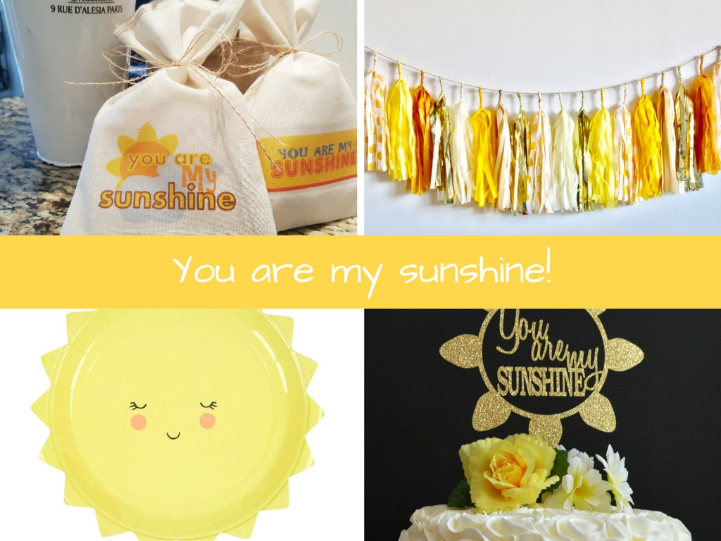 you are my sunshine baby shower inspiration board