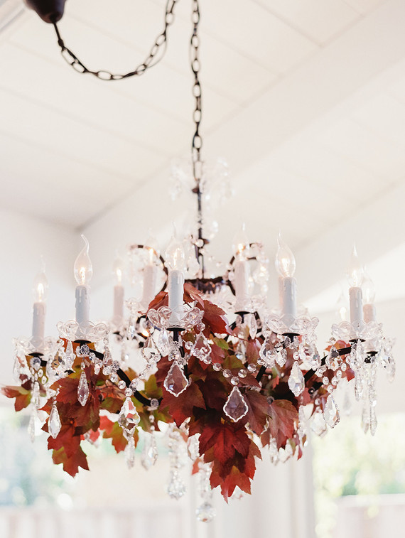 Fall In California Baby Shower Chandelier Decor