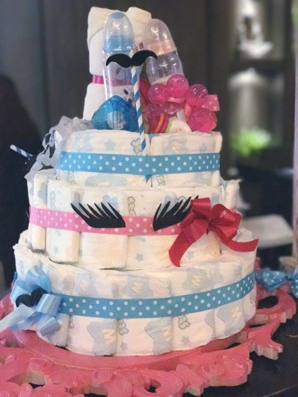 mustache-or-eyelash-baby-shower-gender-reveal-diaper-tower