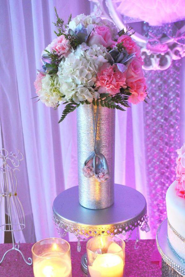pretty-pink-ballerina-baby-shower-gold-vase