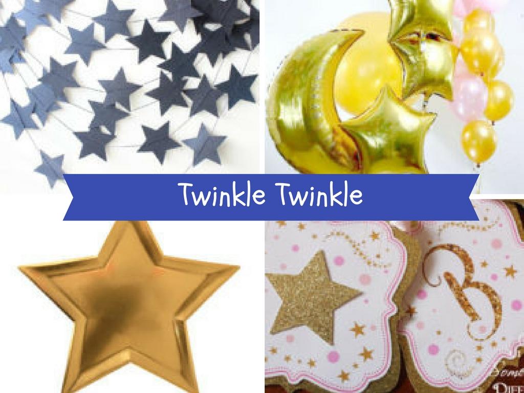 Twinkle Twinkle Little Star Baby Shower Inspiration Board